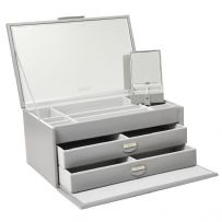 Dulwich Designs 71176 Grey Large Jewellery Box